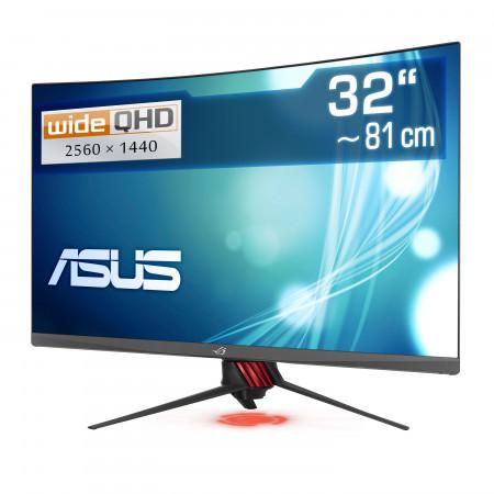 "81,3 cm (32"") ASUS XG32VQR, 2560×1440 (WQHD), 144 Hz, HDMI, DisplayPort, LED-Backlight"