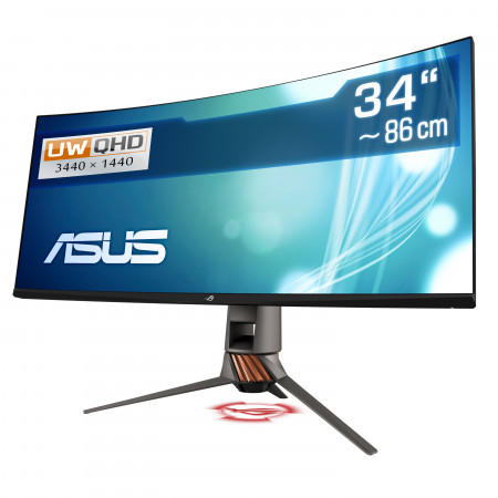 "86,4  cm (34"") ASUS ROG Swift PG349Q, 3440×1440 (UWQHD), 120 Hz, HDMI, DisplayPort, USB 3.1"