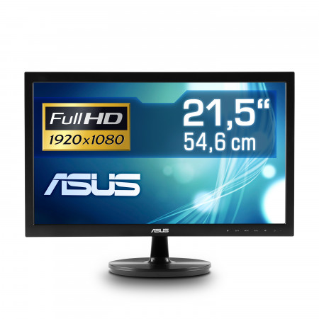 "54,6 cm (22"") ASUS VS228NE, 1920×1080 (Full HD), VGA, DVI, LED-Backlight"