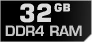 32 GB DDR4 RAM
