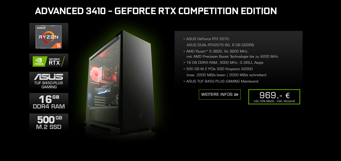 Advanced 3410 - GeForce RTX Competition Edition