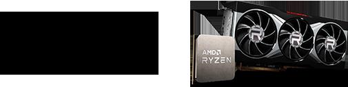 AMD Ryzen Radeon Logo & CPU und Grafikkarte