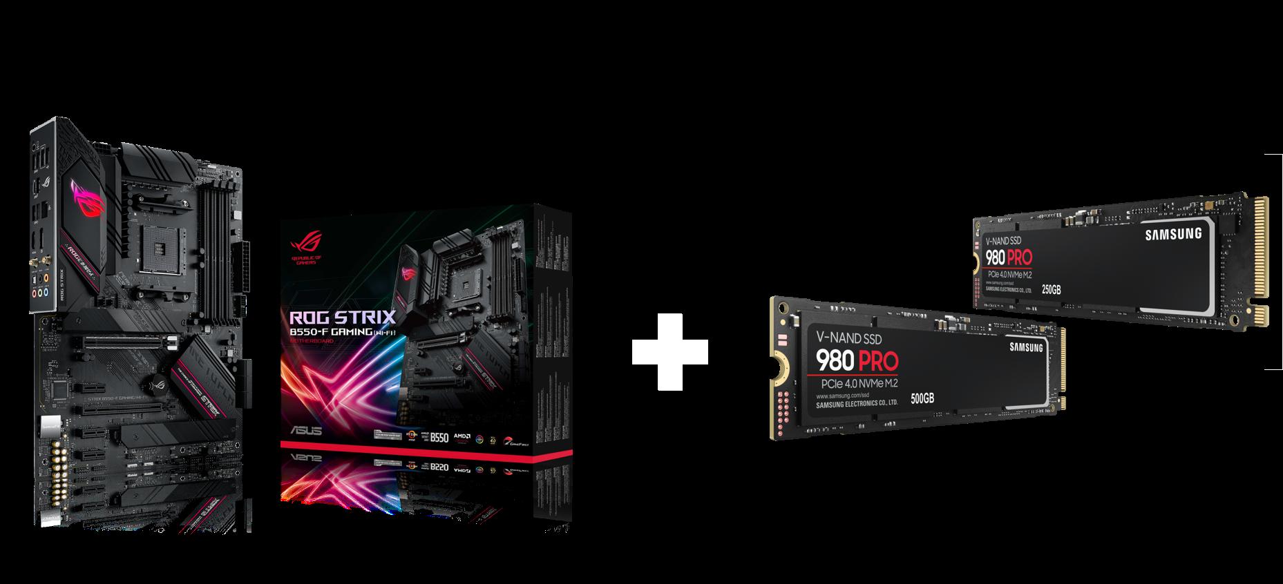 ASUS B550 Mainboard + Samsung 980 PRO SSD-Bundle