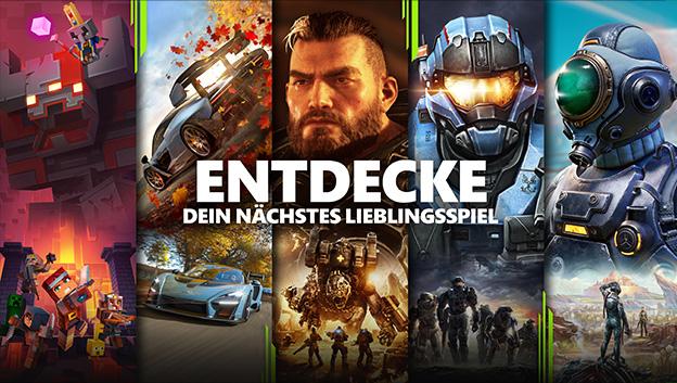 Xbox Game Pass Endecke mehr Spiele