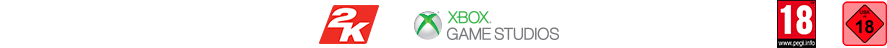 Ubisoft gearbox Software 2K Games XBox Game Studios Coalition 18 Rating Logos